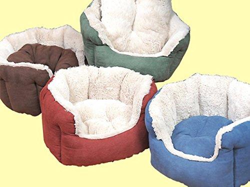 ZK Panier rembourré avec coussin pour chiens et chats 45 x 40 x 20 cm