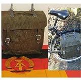 NVA Tasche gummiert Satteltasche Simson Schwalbe Fahrrad Tragegestell Angeln