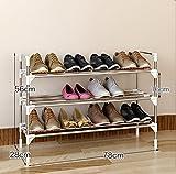 LQQGXL Schuhregal Veranstalter Speicher, Mehrschichtiger Schuhregal aus Edelstahl, Einfache und Kreative Multifunktionale Montage, Einfacher Schuhschrank. (Größe : 78*28*56cm)