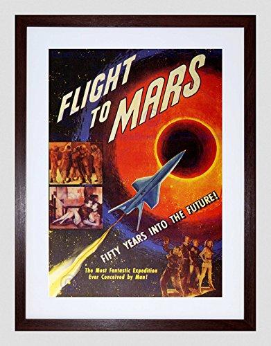 MOVIE FILM FLIGHT TO MARS SCI FI ADVENTURE DRAMA FRAMED ART PRINT MOUNT B12X5487 (Mars-drama)