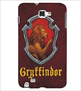 PrintDhaba Lion D-5119 Back Case Cover for SAMSUNG GALAXY NOTE 1 (Multi-Coloured)