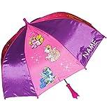 """Regenschirm - """" Filly Pferde / Einhorn """" - incl. Name - Kinderschirm Ø 68 cm - Kinder Stockschirm - Regenschirm - Schirm für Mädchen - Kinderregenschirm / Glockenschirm - Nylon Schirme - Pferd / Einhörner - Prinzessin"""