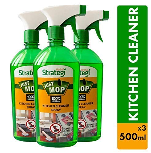 Herbal Strategi Kitchen Cleaner Spray - 500ml (Pack of 3)