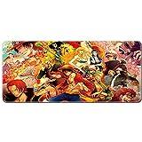 DRAGYI Anime One Piece épais Tapis de Souris, Gaming Mouse Pad, surdimensionné en Caoutchouc Tapis de Souris, 9, 30x80