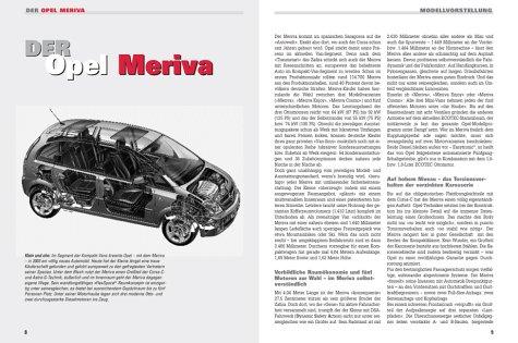 Opel Meriva: Benziner und Diesel ab Modelljahr 2003 (Jetzt helfe ich mir selbst)