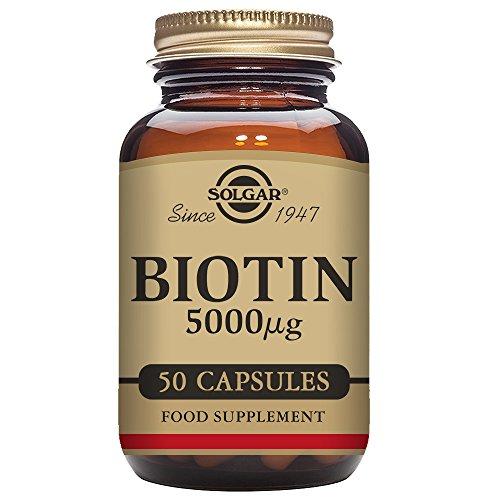 Solgar® Biotin 5000 μg Vegetable Capsules - Pack of 50 Test