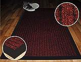 Alta qualità Deluxe rosso a coste zerbini. Lavabile in lavatrice ingresso zerbini zerbino adatto da cucina, ingresso tappetini, lavabile, ufficio tappetini tappetini, cattura sporco, polvere, polvere controllo zerbini barriera, tappeti, tappetini, tappetini in polvere di ricambio. Questi bordo in gomma antiscivolo tappetini sono tra le migliori polvere cacciatori tappeti e può essere utilizzato in ufficio reception, ristoranti, negozi di alimentari, catene, barbiere, uffici e negozi off-licence., plastica, Red, 50 x 80 cm