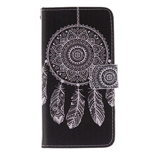 Coque pour Nokia Lumia 635, ISAKEN Élégant Style PU Cuir Flip Magnétique Portefeuille Etui Housse de Protection Coque Étui Case Cover avec Stand Support pour Nokia Lumia 630 / Nokia Lumia 635 (#5) #6