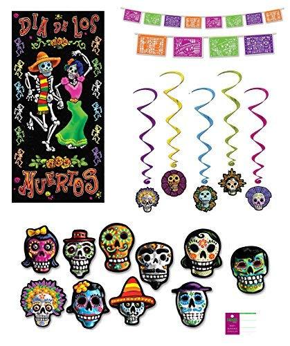 y-Dekorationen, Picado-Stil, Wimpelbanner mit Aufstellungen, zum Aufhängen an der Tür, Poster ()