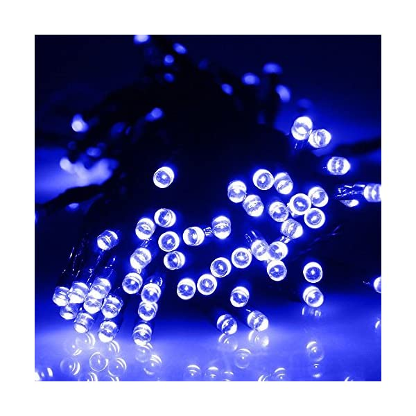 Vlio 8Modes Led Solar Power Fairy String Lights Outdoor Decorative Light 50 100 200 LEDs Waterproof IP44 with Light for Garden Home Wedding Party Christmas Halloween 2