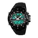 #8: Skmei Chronograph Analogue Digital Sport Black Dial Watch For Men -GM6101BLK