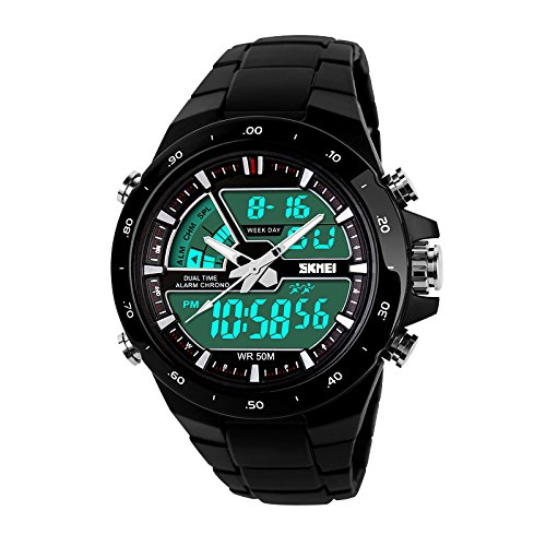 Skmei-Chronograph-Analogue-Digital-Sport-Black-Dial-Mens-Watch-GM6101BLK
