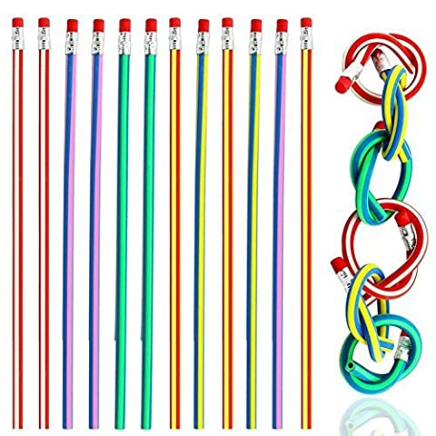 MagicW Novetly Pens Colored Personalized Pencils Creative Bendy Flexible Soft