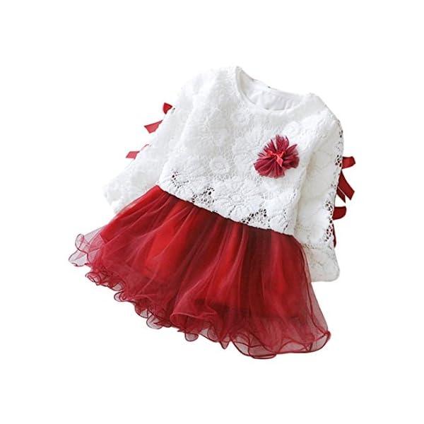 K-youth® Bebé niñas niños Manga Larga Vestido Ropa Bebe niña recién Nacido Conjunto de Ropa 1