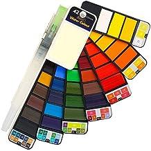 Global Mayo Acuarelas Set, Plegable de Colores de Acuarela Completo Pigmento 42 Juego de Colores
