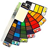 GloBal Mai Aquarellfarben Set, faltbares Aquarellfarben-Vollpigment 42 Farbset -Leicht und Tragbar,Perfekt für Hobbymaler und Profis