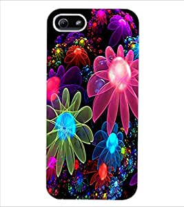 ColourCraft Digital Flowers Design Back Case Cover for APPLE IPHONE 5