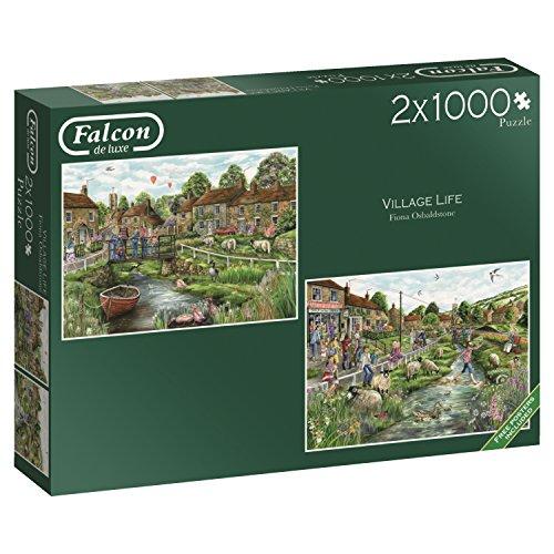 Jumbo-Village Life 2 Puzzles de 1000 Piezas Cada uno (11216.0)