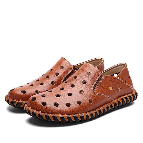Ar Chinelos Homens Livre Vadear Ao Sapatos Marrom Sandálias Dos xagwIr1a