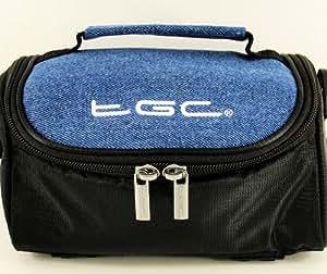 New TGC Black & Denim Camera Case for Panasonic SLR DMC-LZ30 DMC-LZ20 DMC-FZ62 DMC-FZ48 DMC-GH3 DMC-GH2 DMC-G5 HC-X920 HX-WA30 HX-WA3 HC-X900M HC-X900 HC-X800 HX-WA20 HX-WA2 - Bridge Cameras & Camcorders