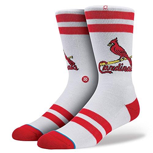 Stance St. Louis Cardinals Diamond Collection Redbirds MLB Socken Weiß L/XL (EU 42-47) -