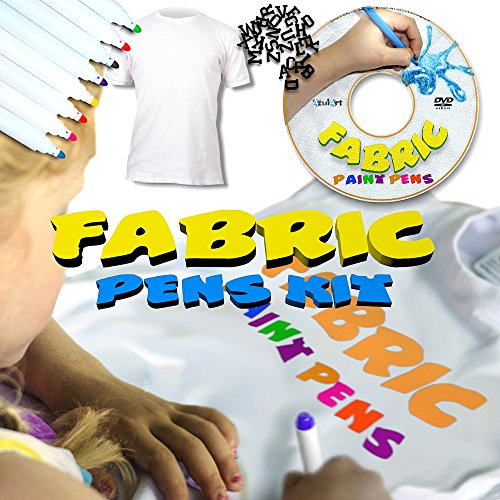4-piece-fabric-art-pens-for-young-boys-and-girls-8-permanent-markers-instructional-dvd-plus-t-shirt-