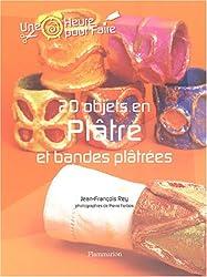20 objets en plâtre et bandes plâtrées