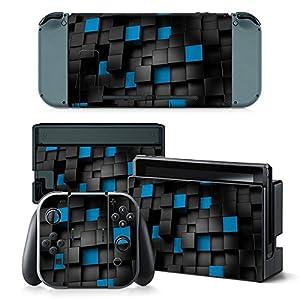 Nintendo Switch Skin Design Foils Aufkleber Schutzfolie Set – Pixel 2 Motiv
