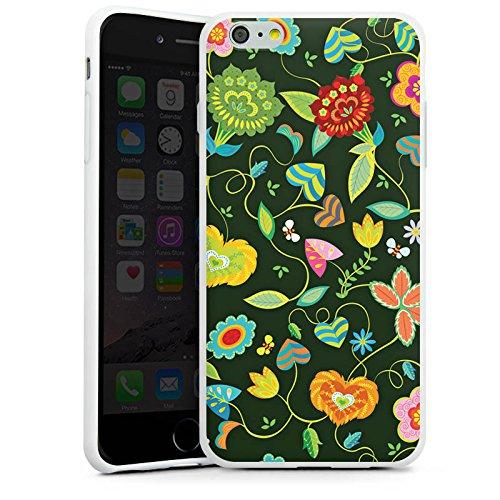 Apple iPhone X Silikon Hülle Case Schutzhülle Bunt Blumen Abstrakt Silikon Case weiß