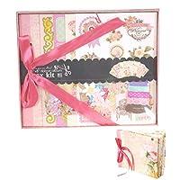 DreamJing Creativity Scrapbook Kit for Kids Girl Scrapbook Photo Album Handmade DIY Album Gift for Birthday Wedding Anniversary - Pink