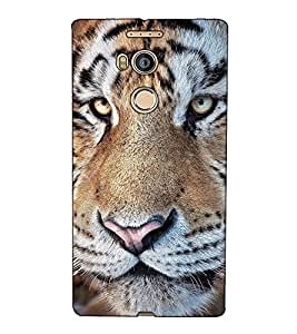 Fuson Designer Back Case Cover for Gionee Elife E8 (The tiger theme)