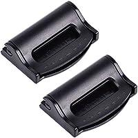 2ajusteurs de tension pour ceinture de sécurité de voiture, clips et sangles réglables, noir