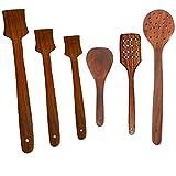 Valentinsgeschenk zum geliebten Holzlöffel und Spachtel Küche Kochgeschirr Set von 6, Holz Küche Werkzeug-Set