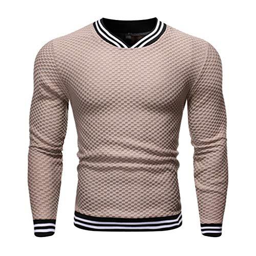 SIRIGOGO Slim Fit Pullover für Herren -