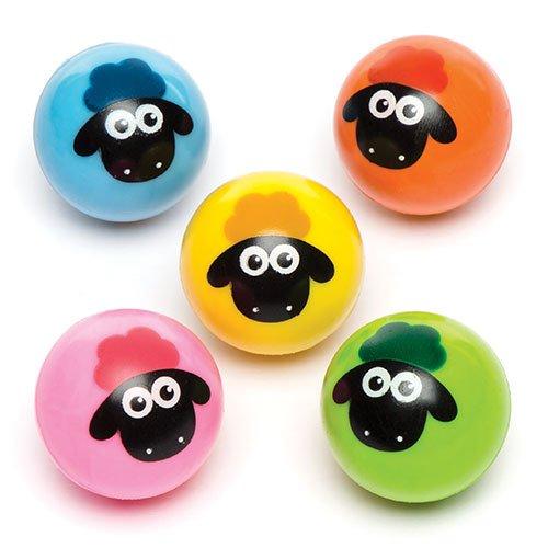 Baker ross palline rimbalzine con soffici pecorelle per bambini, divertenti sorpresine e idee regalo (confezione da 6)