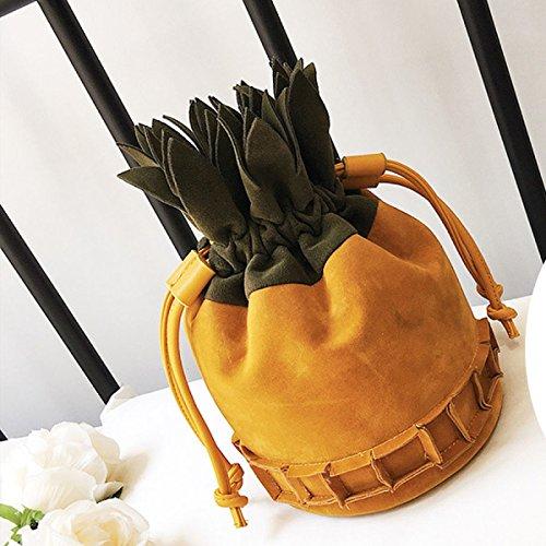 Grind Arenaceous Borse Handbags Modo Per Le Donne Semplice Satchel Yellow