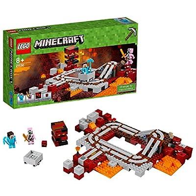 LEGO 21130 Minecraft The Nether Railway Building Set