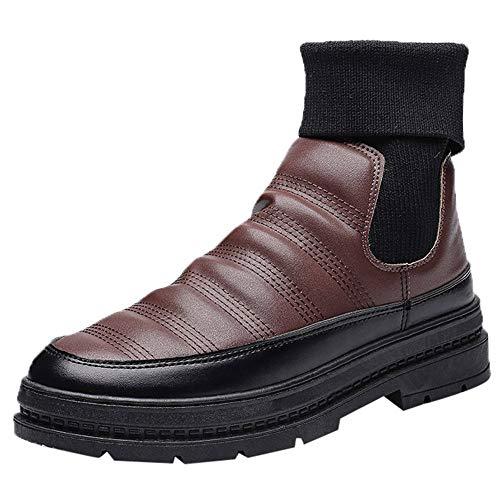 LuckyGirls Botas Calcetines Zapatos Splicing Forrada De Piel Elástico Calzado Zapatillas para...