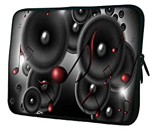 "Snoogg Music Speakers 15"" 15.5"" 15.6"" inch Laptop Notebook Slipcase Sleeve Soft Case Carrying Case for Macbook Pro Acer Asus Dell Hp Sony Toshiba"