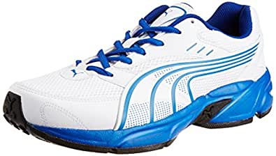 Puma Men's Atom Fashion DP White-Snorkel Blue Running Shoes - 11 UK /India(46EU)