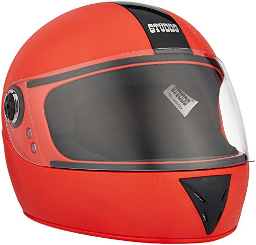 Studds Chrome Elite Full Face Helmet (Red, L)