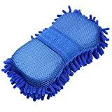 Happyit Auto Microfaser Schwamm Handtuch Waschhandschuh Chenille Waschen Mitt Waschen Mitt Tuch Auto Waschmaschine Werkzeug Mitt Pinsel (Blau)