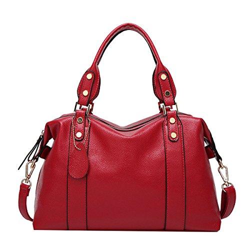 Yy.f Cuoio Impresso Nuovo Borsa A Tracolla Moda Mamma Bag Messenger Borse Estrinseca La Moda Intrinseca E Pratico Multicolore Red