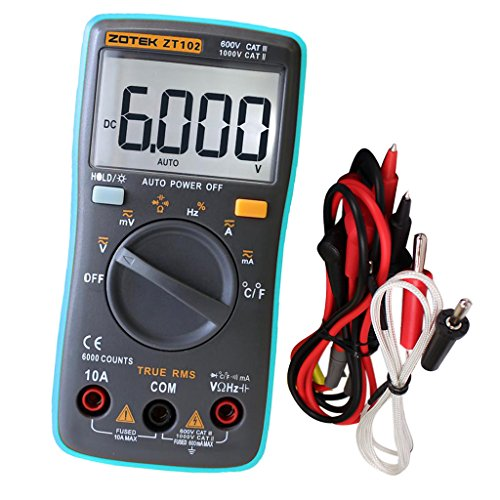 Almencla Digital Multimeter TRMS 6000 Zählt Auto Ranging Voltmeter Tragbar 130mm