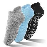 GOAMZ Yoga Chaussettes antiderapant Chaussettes pour Yoga, Pilâtes, Arts Martiaux, Fitness, Antidérapantes, Chaussettes EU 36-41(3 Coloris)
