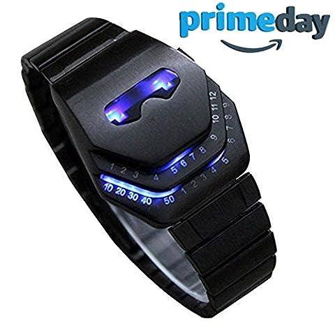 LED Uhr Herren, Schmuck Uhren, Blue Ray Glas Quartz Analog