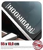 Hoonigan Frontscheibenaufkleber 55,0 cm x 10,0 cm Auto Aufkleber JDM OEM Tuning Sticker Decal 30 Farben zur Auswahl