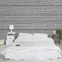 GroBartig Apalis Tapete Holzoptik Vliestapete Holzwand Mit Schmalen Leisten Schwarz  Weiß Fototapete Breit | Vlies Tapete Wandtapete