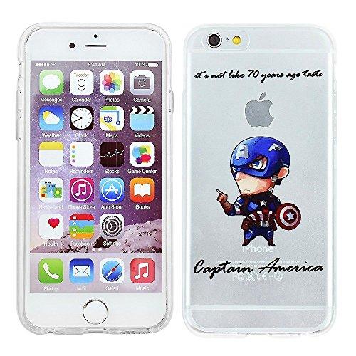 Blitz® Superhéros motifs housse de protection transparent TPE caricature iPhone Spider Man M12 iPhone 5c Captain America M6