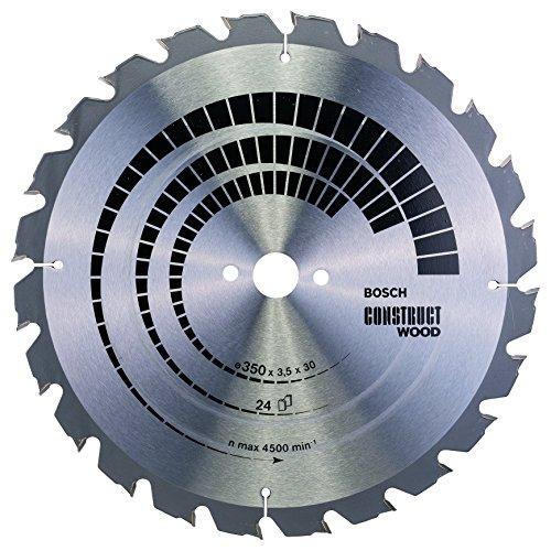 Bosch Zubehör 2608640692 Kreissägeblatt Construct Wood 350 x 30 x 3,5 mm, 24